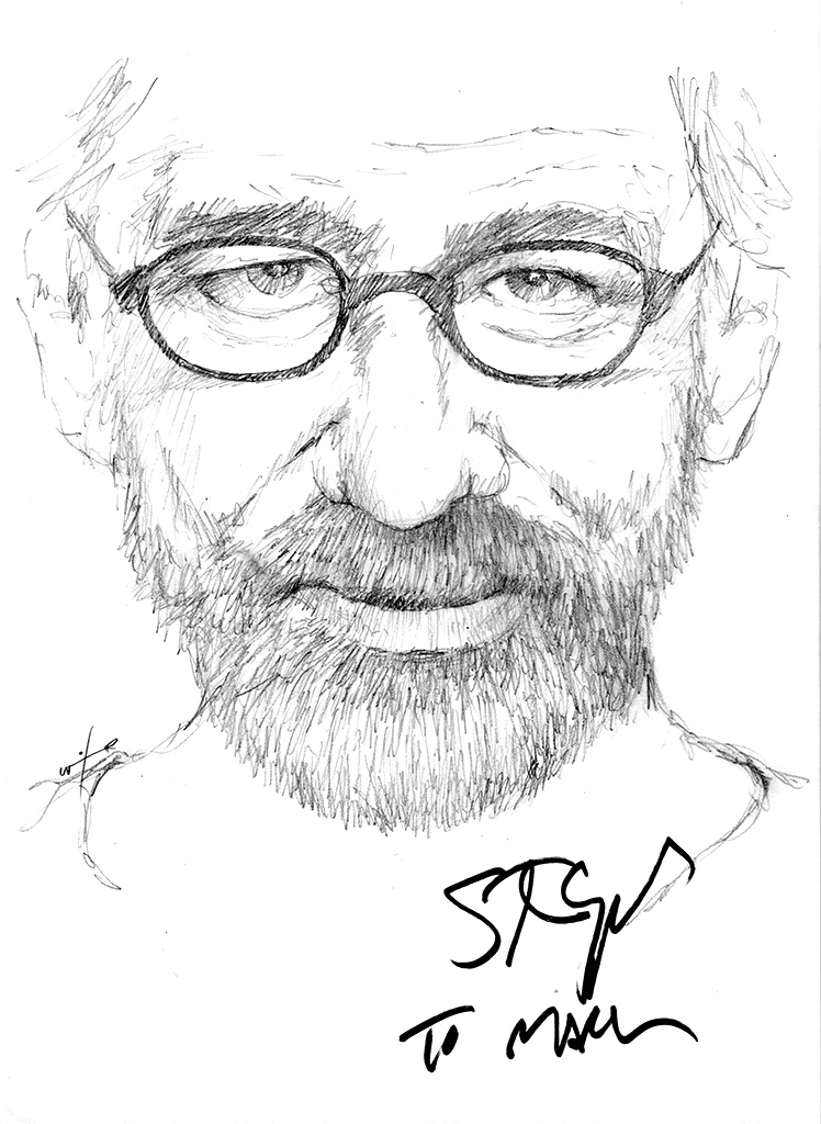 Drawing Steven Spielberg Chicanepictures