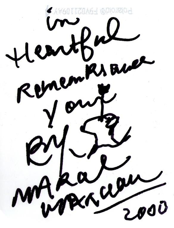 Marcel Marceau writing