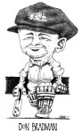 Don Bradman Illustration
