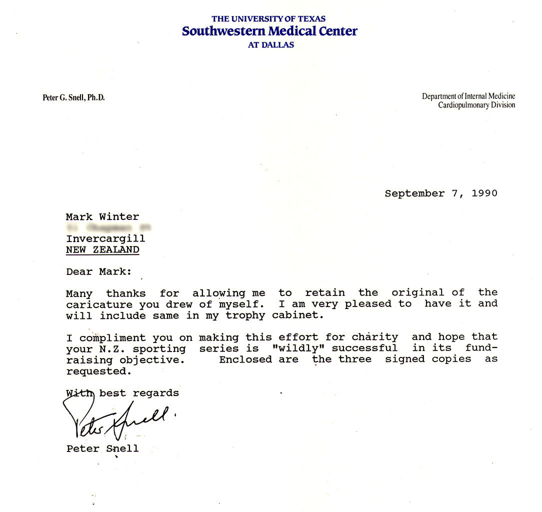 letter to accompany a contribution