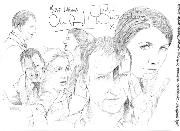 Drawing: Jodie Whittaker and Christopher Eccleston in