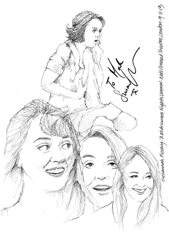 drawings  a midsummer night u2019s dream starring susannah