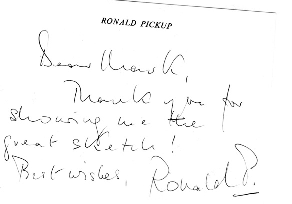 ronald pickup letter
