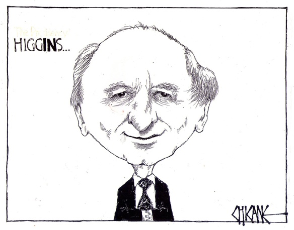 Michael D Higgins drawing