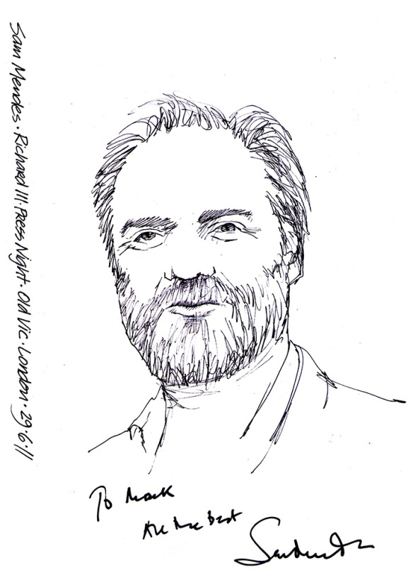 Sam Mendes ink