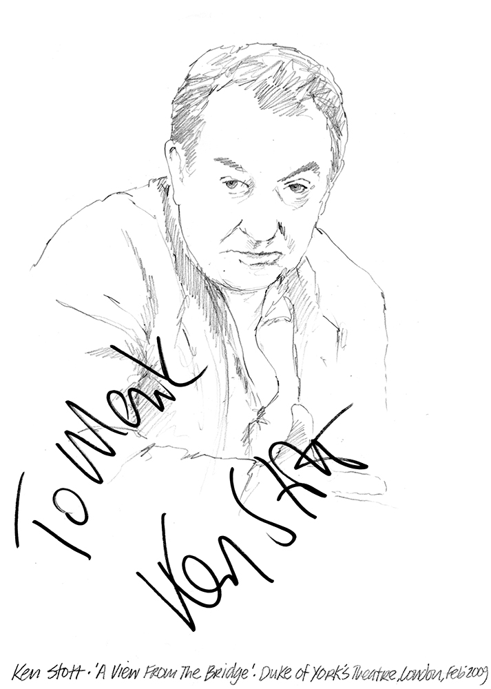 Drawing Ken Stott In A View From The Bridge At Duke Of Yorks Theatre