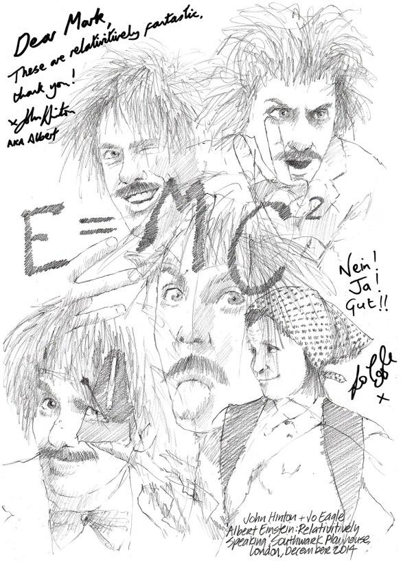 Drawing: John Hinton and Jo Eagle in Albert Einstein