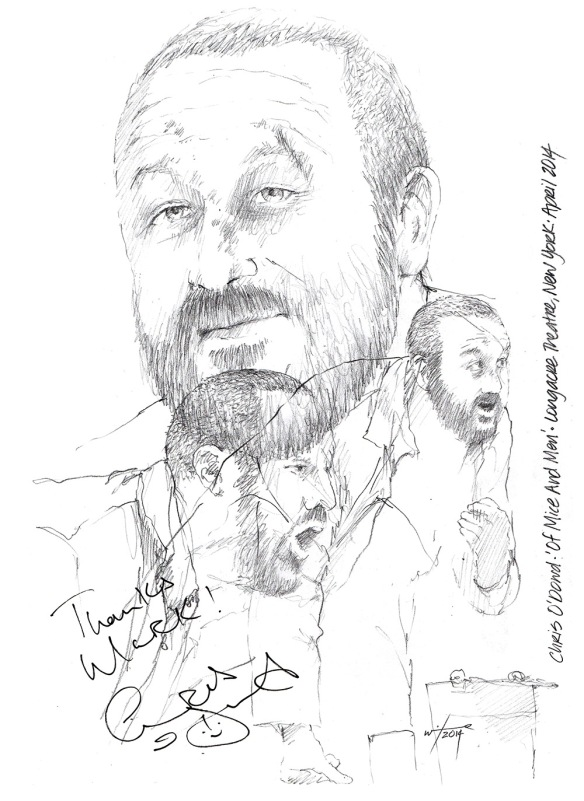 Chris O'Dowd Of Mice And Men Broadway Theatre