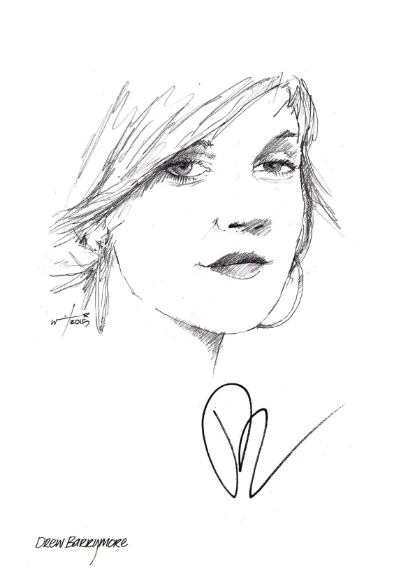 Drawing Drew Barrymore Chicanepictures
