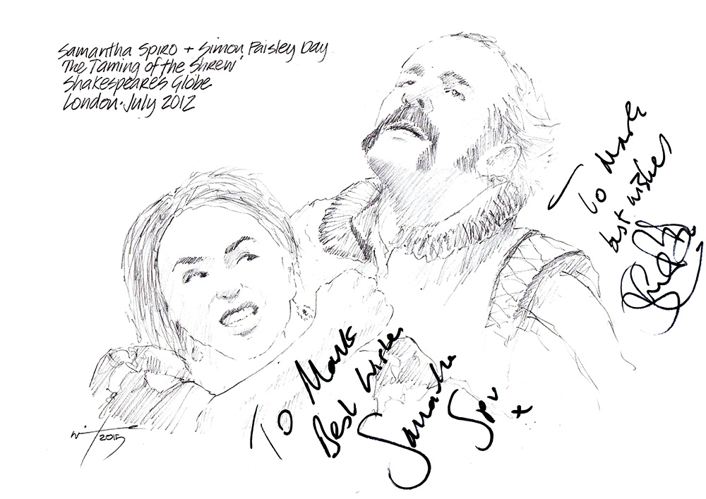 drawing samantha spiro and simon paisley day in the