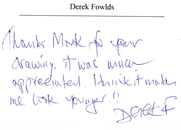 Derek Fowlds Card