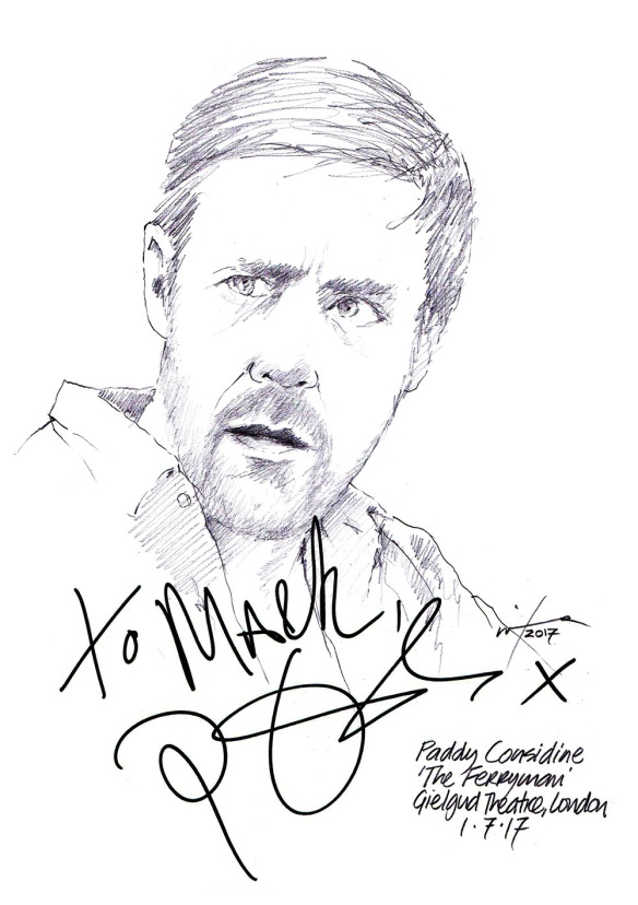 Paddy Considine Drawing