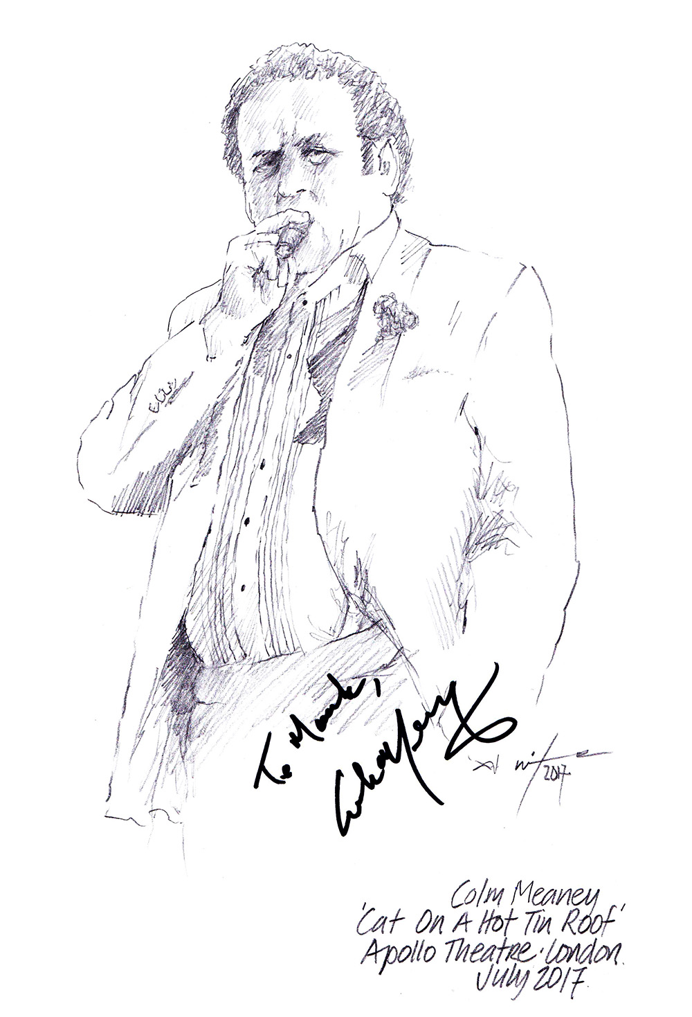 Drawing Colm Meaney In Cat On A Hot Tin Roof