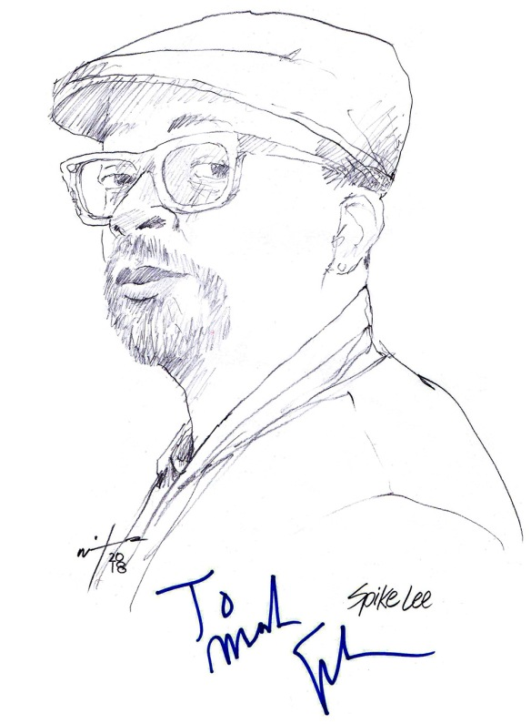 Autographed drawing of director Spike Lee