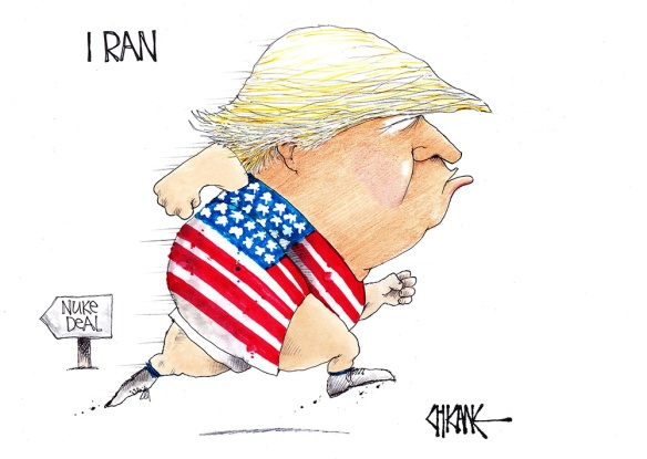 Trump Iran Nuclear Deal Cartoon