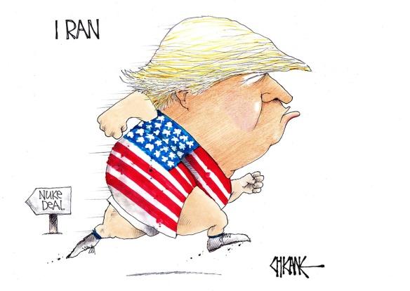 Trump Iran Nuclear Deal Cartoon