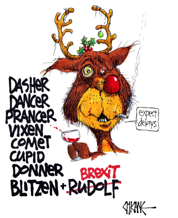 Brexit the Reindeer - Expect delays