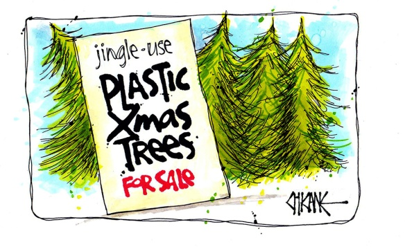 Jingle Use Plastic Christmas Tree Cartoon