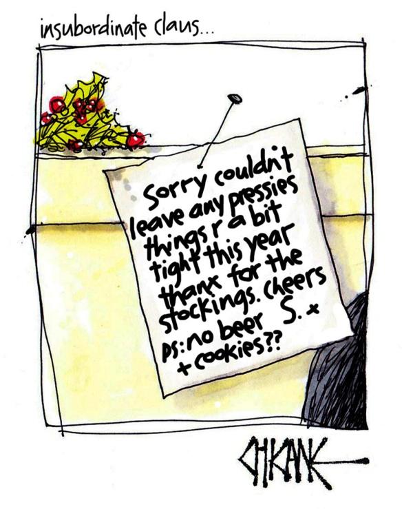 Christmas Note Cartoon