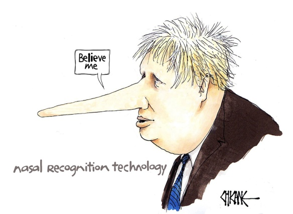 Boris Johnson Pinnochio
