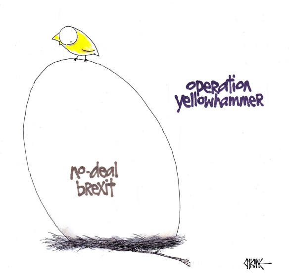 Yellowhammer Brexit Cartoon