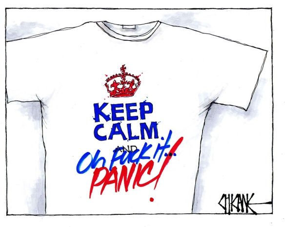 Keep calm and panic Brexit Cartoon