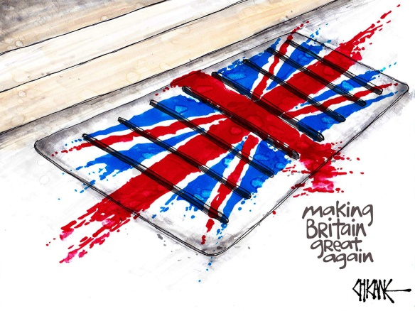 Brexit Cartoon Grate