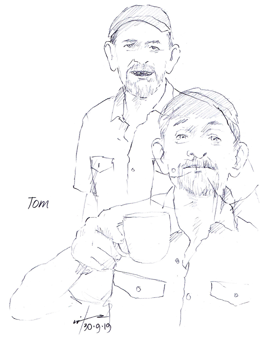 Drawing of Greenwich Legend Tom O'Connor