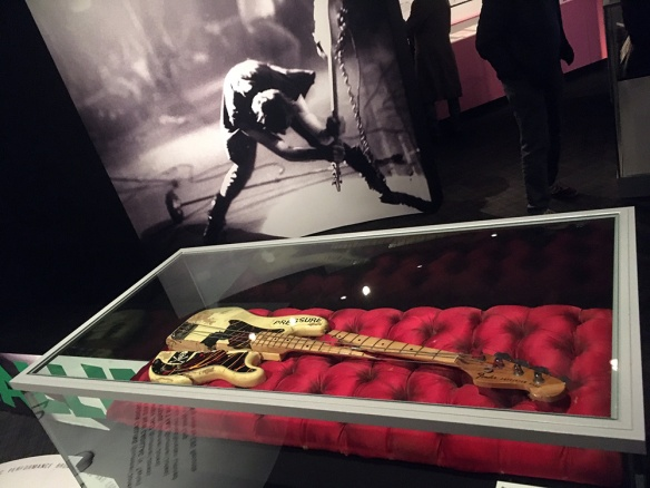 Photo of The Clash smashed guitar from London Calling album cover