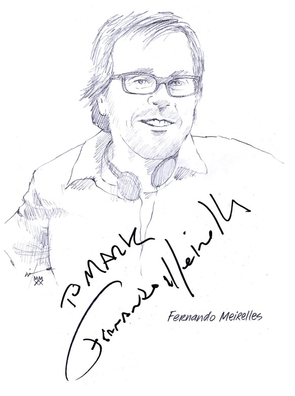 Autographed drawing of director Fernando Meirelles
