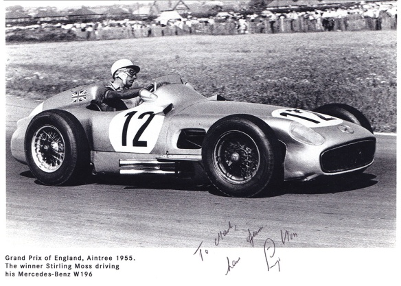 Autographed photo of Stirling Moss
