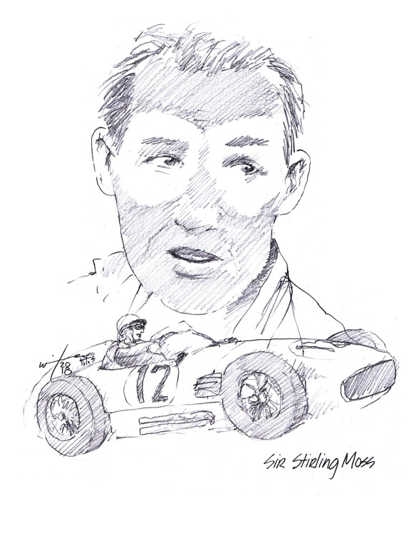 Drawing of Stirling Moss